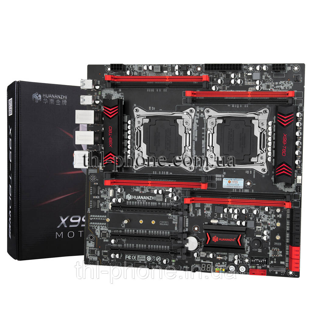 Dual HuananZHI X99-T8D Gaming Материнська плата motherboard Huanan ZHI LGA2011-3