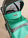 Детская коляска 2 в 1 Saturn Len Classik (Сатурн Лен Классик) Victoria Gold эко кожа зеленый, фото 5