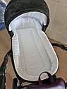 Детская коляска 2 в 1 Peppy Classik эко кожа  фиолет_2, фото 4