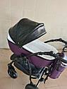 Детская коляска 2 в 1 Peppy Classik эко кожа  фиолет_2, фото 3