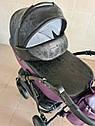 Детская коляска 2 в 1 Peppy Classik эко кожа  фиолет_2, фото 2