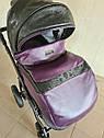 Детская коляска 2 в 1 Peppy Classik эко кожа  фиолет_2, фото 6