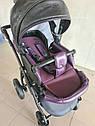 Детская коляска 2 в 1 Peppy Classik эко кожа  фиолет_2, фото 7