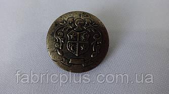Пуговица  на  ножке 0388 металлизированная-герб