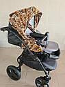 Детская коляска 2 в 1 Peppy Classik эко кожа  эко кожа леопард, фото 4