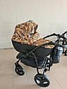 Детская коляска 2 в 1 Peppy Classik эко кожа  эко кожа леопард, фото 2