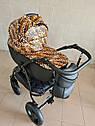 Детская коляска 2 в 1 Peppy Classik эко кожа  эко кожа леопард, фото 3