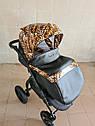 Детская коляска 2 в 1 Peppy Classik эко кожа  эко кожа леопард, фото 6