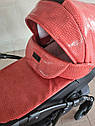 Детская коляска 2 в 1 Peppy Classik эко кожа  эко кожа оранж, фото 5