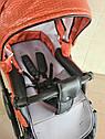 Детская коляска 2 в 1 Peppy Classik эко кожа  эко кожа оранж, фото 7