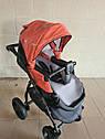 Детская коляска 2 в 1 Peppy Classik эко кожа  эко кожа оранж, фото 6