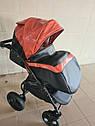 Детская коляска 2 в 1 Peppy Classik эко кожа  эко кожа оранж, фото 8