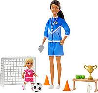 Кукла Барби тренер по футболу брюнетка Barbie Soccer Coach GJM71