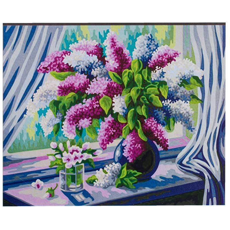 """Картина по номерам """"Сирень в вазе"""" RA 3448, 50- 40 см"""