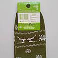 Носки женские махровые теплые Житомир хаки со снежинками размер 37-40, фото 3