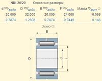 Подшипник Olimac Drago DR11130 аналог NKI 20/20