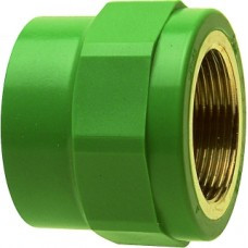 "Соединитель, PP-R, В, D = 75мм x 2.1/2"", зеленый"