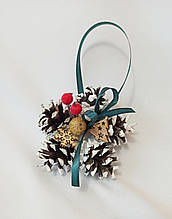 Новогодний декор, ёлочные украшения из натуральных шишек