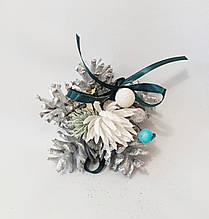 Новогодний декор, ёлочные украшения из натуральных шишек, рождественский декор