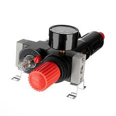 """Блок подготовки воздуха 1/4"""", 5мкм, 850 л/мин, металл, профессиональный INTERTOOL PT-1435, фото 3"""