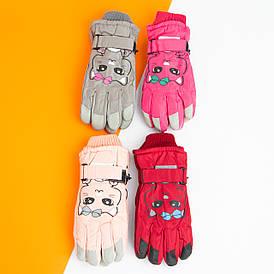 Оптом рукавички лижні на 10 - 11 - 12 - 13 - 14 років для дівчаток (арт. 20-12-27)