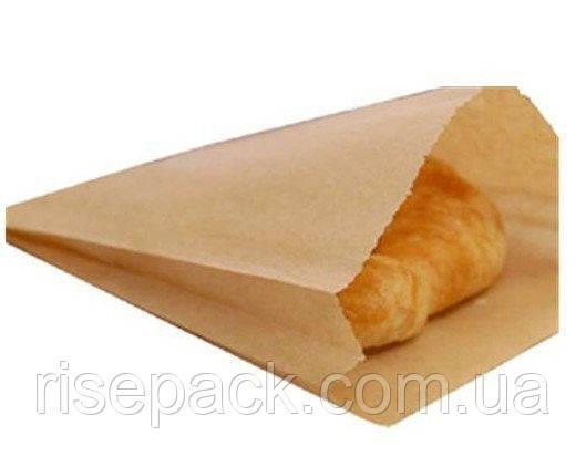 Пакет бумажный бурый 15х23