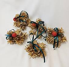 Рождественский декор, набор ёлочных украшений из натуральных шишек и ягод, упаковка 5 шт