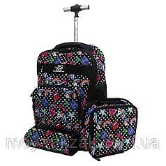 Комплект детский чемодан - рюкзак + термо-сумка + пенал Kid