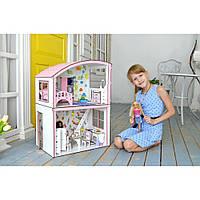 """Будинок для ляльок """"Затишна Вілла Барбі + меблі + шпалери + текстиль"""" Fana"""