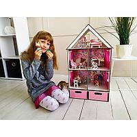 Ляльковий будиночок для LOL LITTLE FUN maxi + меблі + текстиль + BOX Fana