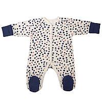 Комбинезон для новорожденных Baby Veres Leo-2 интерлок  молочный 50