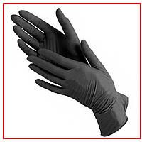 Перчатки нитриловые черные медицинские одноразовые Xs, S,M, L, XL (от 10 уп)