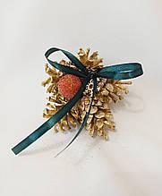 Рождественский декор, ёлочные украшения из натуральных шишек и ягод, 1 шт