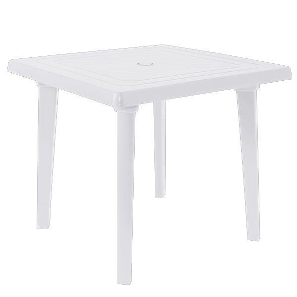 Б/у Пластиковый стол для летнего кафе квадратный Алеана 80x80 см, белый.