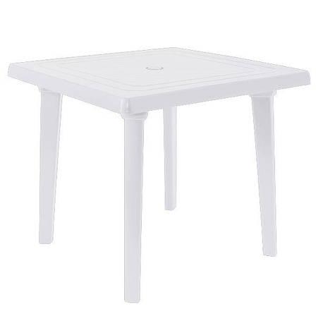 Б/у Пластиковый стол для летнего кафе квадратный Алеана 80x80 см, белый., фото 2