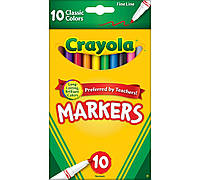 Фломастеры Crayola Тонкие Линии Classic Markers Fine Line 10 шт 58/7726