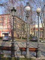 Фонарные столбы, фонари парковые, уличные и садовые светильники