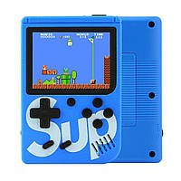 Приставка игровая денди 8 бит Retro Game Box Sup 400in1 портативная ретро консоль Синяя (Game Box 400in1)
