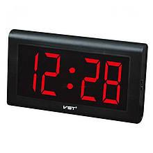 Годинник мережеві VST-795-1 настінні червоні, 220V