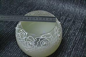 Ваза стекло скло світло лимонного кольору, висота 12,5 см, фото 2