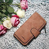 Стильный кошелек клатч Baellerry Forever женский коричневый