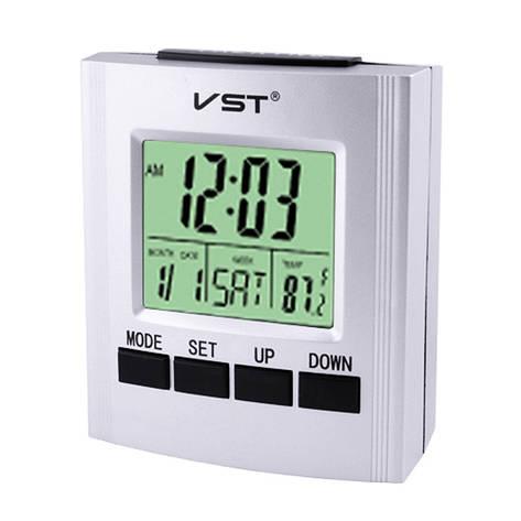 Часы электронные говорящие VST-7027, температура, 2*AA, фото 2