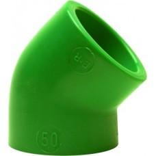 Уголок под 45 град, PP-R, D = 32 мм, зеленый