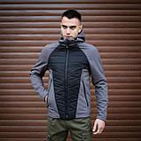 Мужская куртка Rafael (серо-черная), фото 2