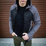 Мужская куртка Rafael (серо-черная), фото 6