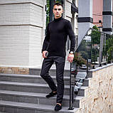 Чоловічий светр Axelrod (чорний), фото 5