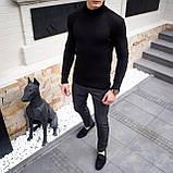 Чоловічий светр Axelrod (чорний), фото 6