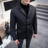 Чоловіча куртка-піджак Dollar Bill (чорна), фото 3