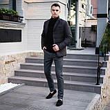 Чоловіча куртка-піджак Dollar Bill (чорна), фото 4
