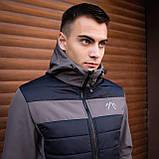 Мужская куртка Harvest (синяя с серой вставкой)S M L XL, фото 5